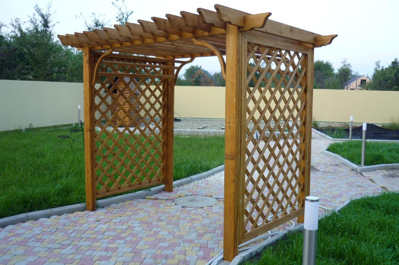 Дизайн проекты деревянных беседок в Краснодарском крае