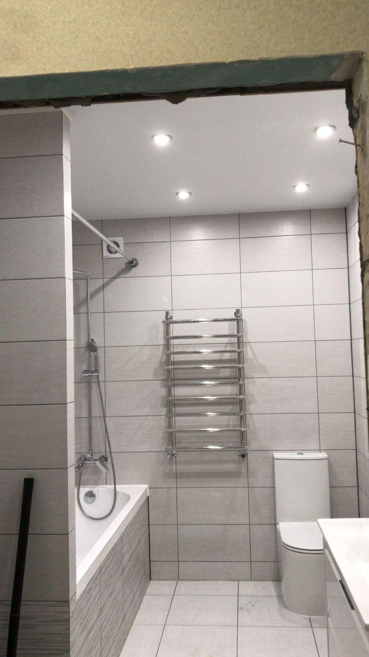 Ремонт ванной комнаты под ключ в Гулькевичи - фото: укладка плитки, шпатлевка, штукатурка стен