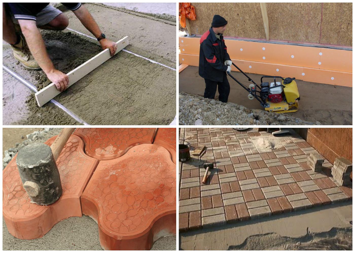 Укладка вибропрессованной тротуарной плитки брусчатки в Гулькевичи и Кропоткине по цене 1 квадратный метр