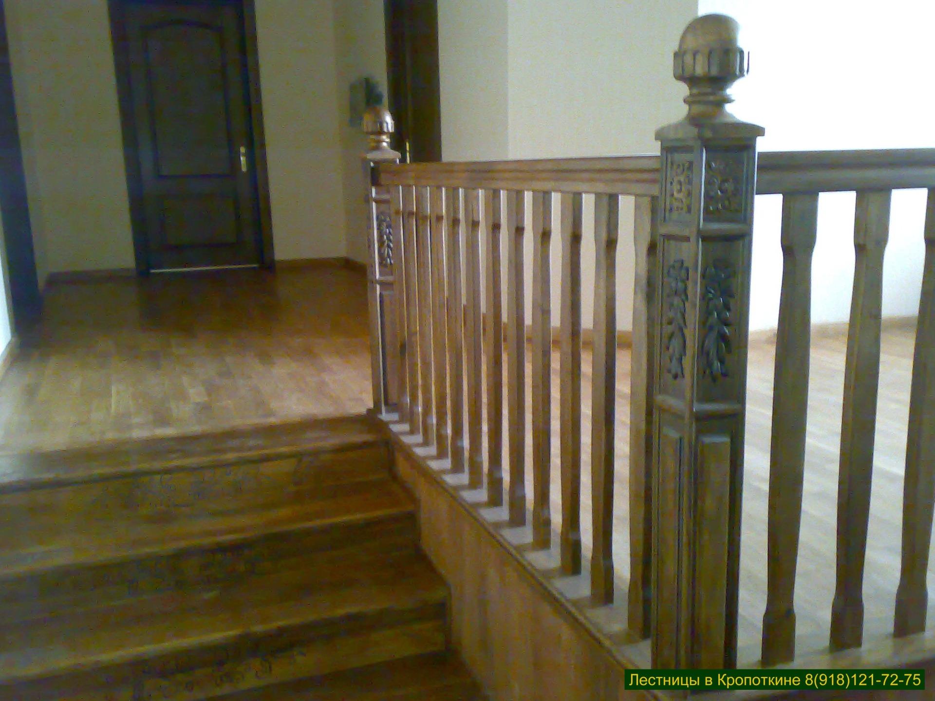 Лестница в деревянный дом на второй этаж, проект № 304