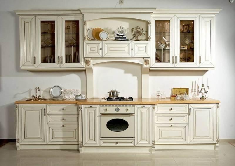 Реставрация мебели с натурального дерева кухни