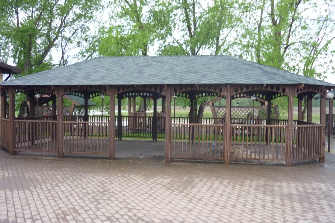 Большие размеры деревянных беседок для загородного отдыха и летних кафе в Кропоткине Гулькевичи