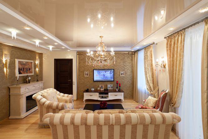 Как выбрать стьль интерьера и дизайн натяжного потолка в Армавире