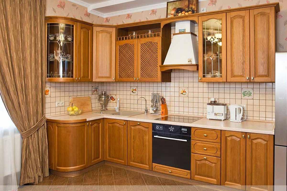 Где купить в Тухорецке или заказать кухню из массива натурального дерева - цены, фото, каталог