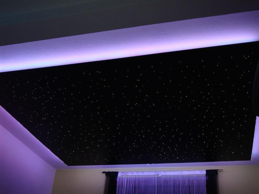 Дизайн и фото натяжного потолка звездное небо в Сочи
