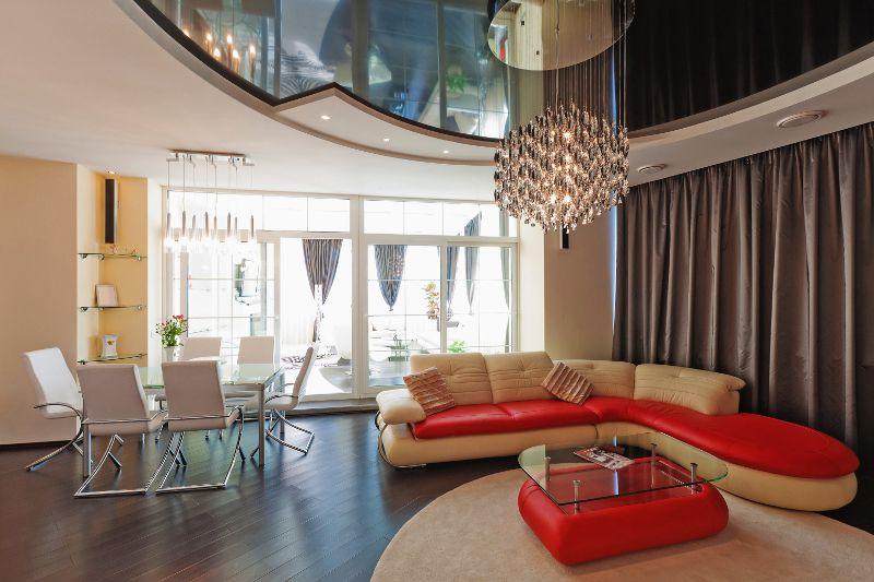 Дизайн интерьера и натяжных потолков фото в Кропоткине