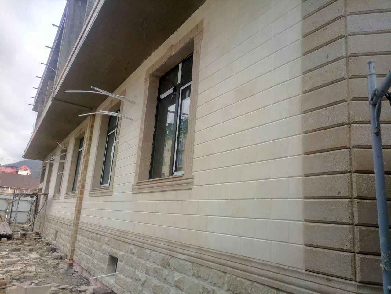 Бригады мастеров по облицовке фасадов домов природным дагестанским камнем доломитом в Анапе